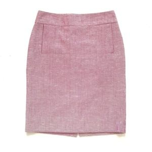 Banana Republic Lavender Tweed Pencil Skirt